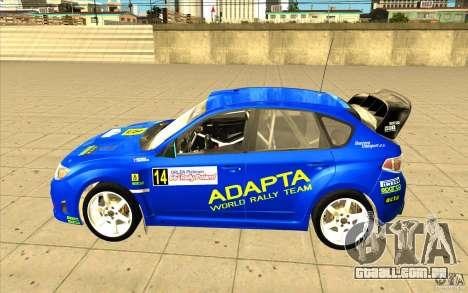 Subaru Impreza WRX STi com novo vinil original para GTA San Andreas vista superior