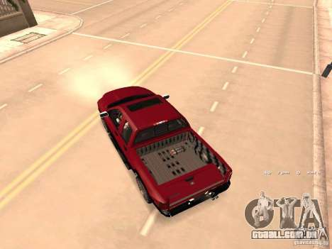 Dodge Ram 2010 para GTA San Andreas vista interior