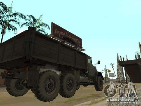 ZIL 131 caminhão para GTA San Andreas vista direita