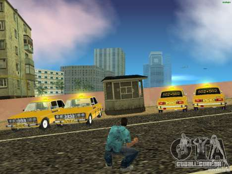 VAZ 2106 táxi v 2.0 para GTA Vice City vista direita