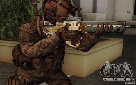 Tavor Tar-21 Camodesert para GTA San Andreas segunda tela