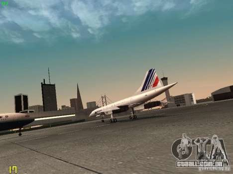 Aerospatiale-BAC Concorde Air France para GTA San Andreas vista direita
