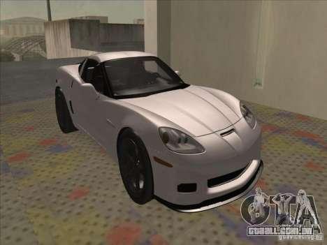Chevrolet Corvette Grand Sport 2010 para GTA San Andreas esquerda vista