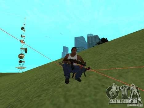 Laser Weapon Pack para GTA San Andreas sexta tela