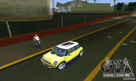 Mini Cooper S para GTA Vice City vista traseira