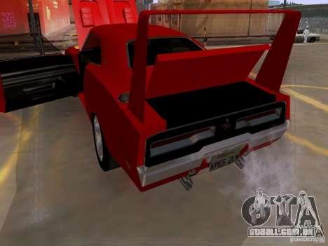 Dodge Charger Daytona 440 para vista lateral GTA San Andreas