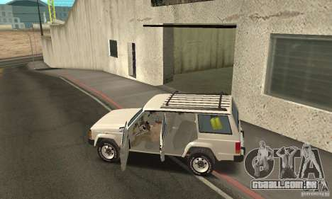 Jeep Grand Cherokee 1986 para GTA San Andreas vista superior