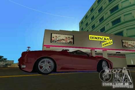 Ferrari F430 Spider 2005 para GTA Vice City deixou vista