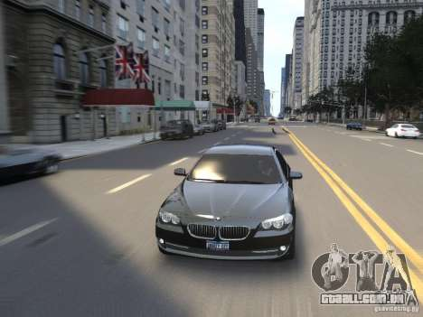 BMW 550i F10 para GTA 4 vista superior