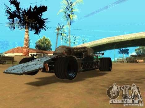Fast & Furious 6 Flipper Car para GTA San Andreas traseira esquerda vista