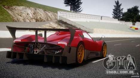 Pagani Zonda R para GTA 4 vista superior
