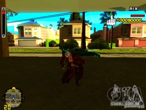 Dante para GTA San Andreas quinto tela