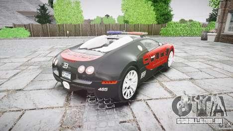 Bugatti Veyron 16.4 Police [EPM/ELS] para GTA 4 vista lateral