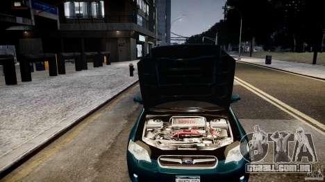 Subaru Legacy B4 GT para GTA 4 vista de volta