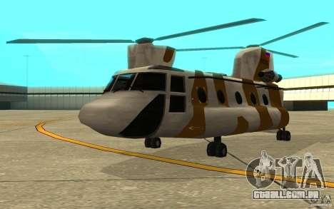 GTA SA Chinook Mod para GTA San Andreas esquerda vista
