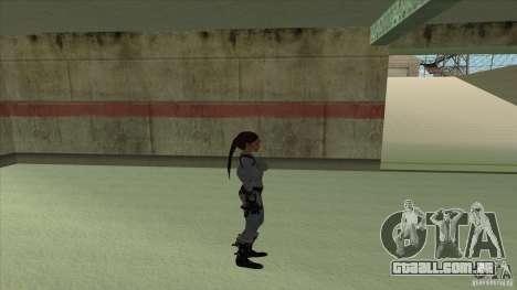 Lara Croft para GTA San Andreas por diante tela