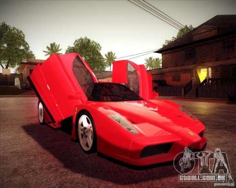 Ferrari Enzo para GTA San Andreas vista traseira
