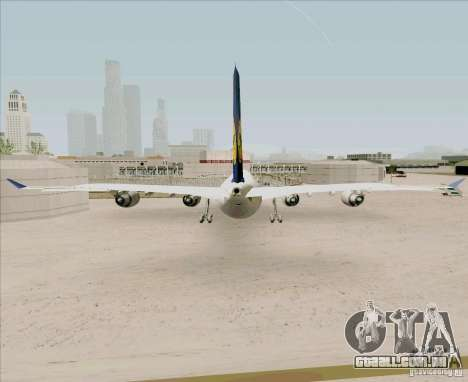 Airbus A-340-600 Lufthansa para GTA San Andreas traseira esquerda vista