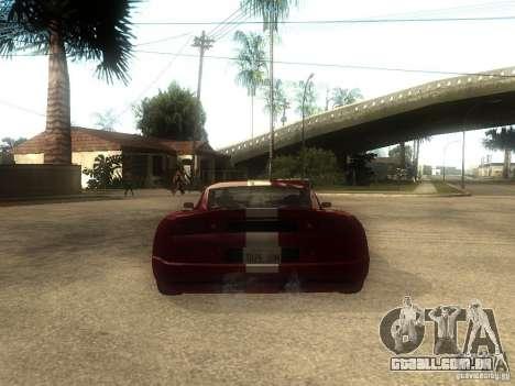 Axis Pegasus para GTA San Andreas traseira esquerda vista