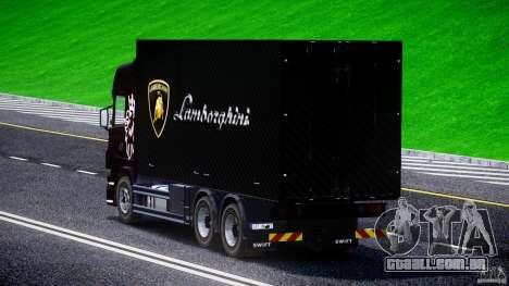 Scania R580 Tandem para GTA 4 traseira esquerda vista