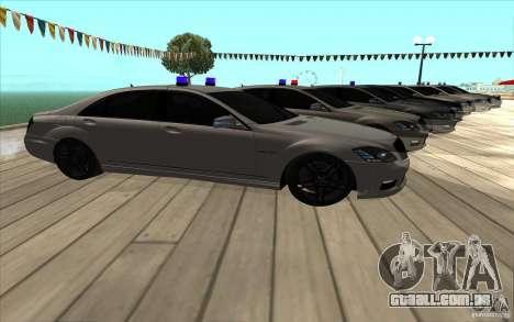 Mercedes-Benz S65 AMG com luzes piscando para GTA San Andreas vista direita