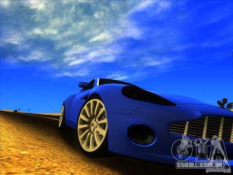 Aston Martin V12 Vanquish V1.0 para GTA San Andreas esquerda vista