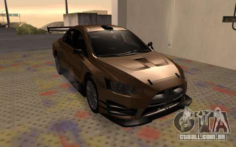 Mitsubishi Lancer Evolution X para GTA San Andreas vista interior