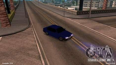 BAZ 21099 para GTA San Andreas vista interior