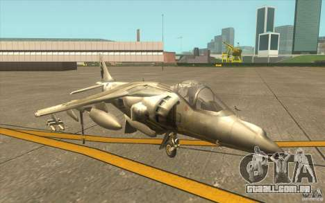 Harrier GR7 para GTA San Andreas esquerda vista