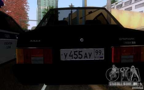 Blueline Vaz 21099 para GTA San Andreas vista direita