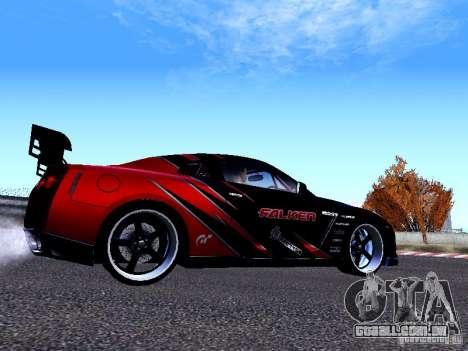 Nissan Skyline R35 Drift Tune para GTA San Andreas traseira esquerda vista