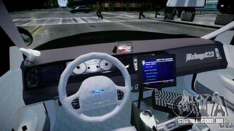 Ford Crown Victoria Fl Highway Patrol Units ELS para GTA 4 vista direita