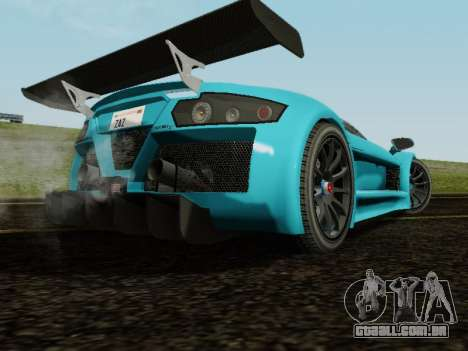 Gumpert Apollo S 2012 para GTA San Andreas vista traseira