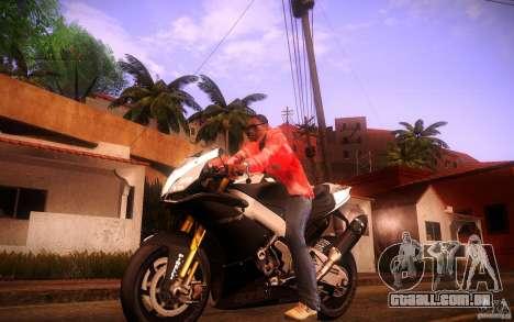 Aprilia RSV-4 Black Edition para GTA San Andreas esquerda vista