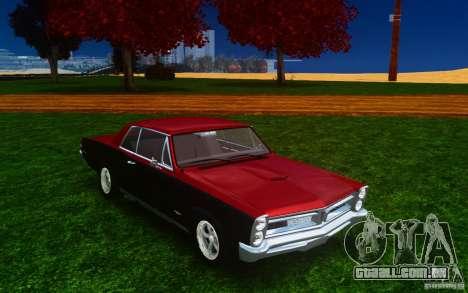 Pontiac GTO 1965 FINAL para GTA 4 vista lateral