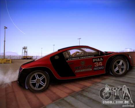 Audi R8 Shift para GTA San Andreas vista interior