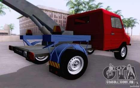 Caminhão de reboque de LuAZ 13021 para GTA San Andreas traseira esquerda vista