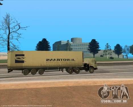 Semi-reboque para GTA San Andreas esquerda vista