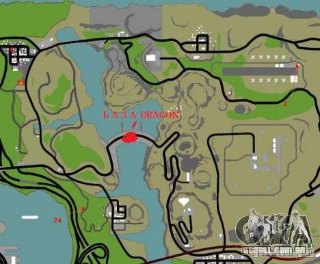 Base do dragão para GTA San Andreas décimo tela