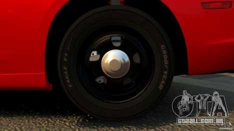Dodge Charger RT Max FBI 2011 [ELS] para GTA 4 vista inferior