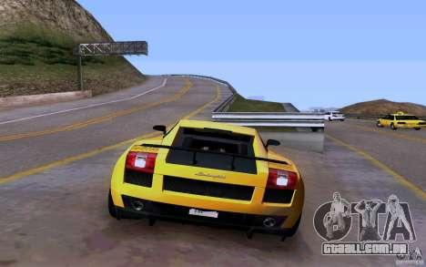 Lamborghini Gallardo Superleggera para GTA San Andreas vista interior