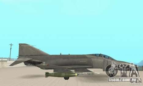 F-4E Phantom II para GTA San Andreas vista direita