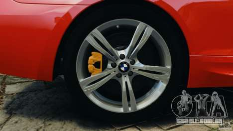 BMW M6 F13 2013 v1.0 para GTA 4 vista inferior