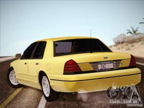 Ford Crown Victoria Interceptor para GTA San Andreas esquerda vista