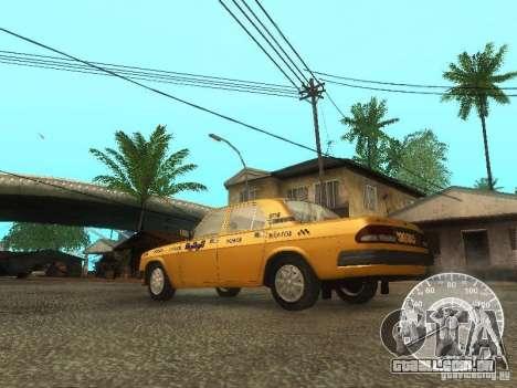 Táxi de GAZ 3110 Volga para GTA San Andreas traseira esquerda vista