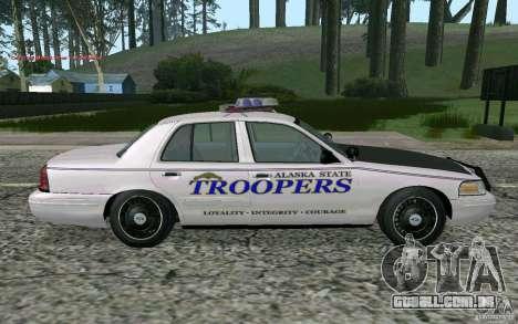 Ford Crown Victoria Police para GTA San Andreas vista direita