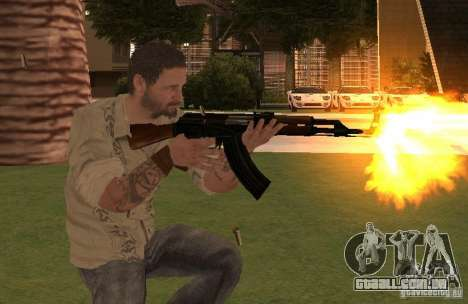 Frank Woods de Call of Duty Black Ops para GTA San Andreas terceira tela