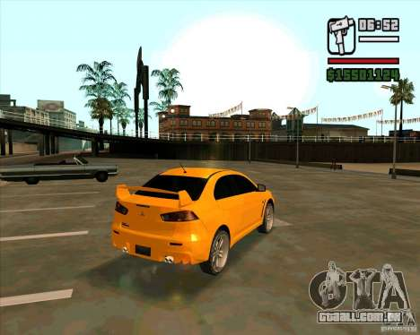 Mitsubishi Lancer Evolution para GTA San Andreas esquerda vista