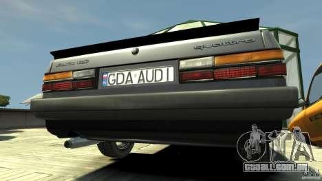 Audi 80 B2 1985 Quattro para GTA 4 vista direita