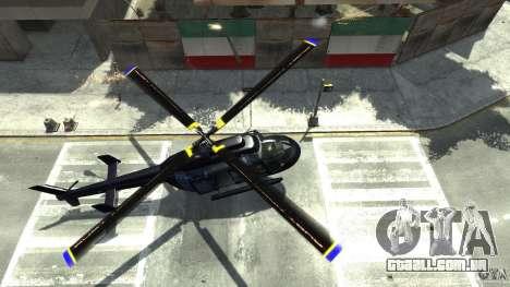 NYC Helitours Texture para GTA 4 vista de volta